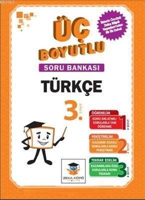 Zekaküpü - 3.Sınıf Türkçe Üç Boyutlu Soru Bankası