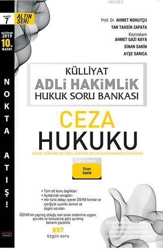 Külliyat Ceza Hukuku Soru Bankası Adli Hakimlik Savaş Yayınları Haziran 2019
