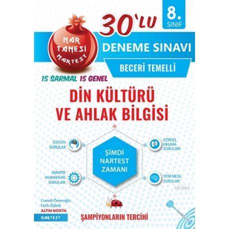 Nartest Yayınları 8. Sınıf LGS Din Kültürü ve Ahlak Bilgisi Nar Tanesi 30 lu Deneme Nartest