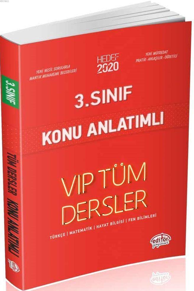 Editör Yayınları 3. Sınıf Tüm Dersler VIP Konu Anlatımlı Kırmızı Kitap Editör
