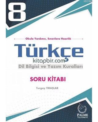 Palme Yayınları 8. Sınıf LGS Türkçe Dil Bilgisi ve Yazım Kuralları Soru Kitabı Palme