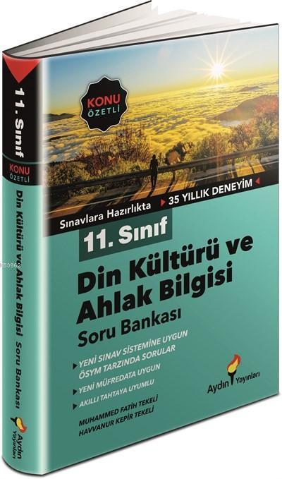 Aydın Yayınları 11. Sınıf Din Kültürü ve Ahlak Bilgisi Konu Özetli Soru Bankası Aydın