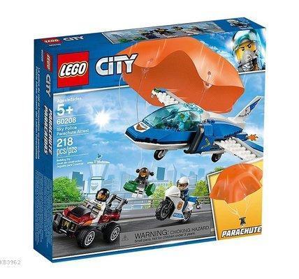 Lego Ctiy 60208 Gökyüzü Polisi Paraşütle Tutuklama