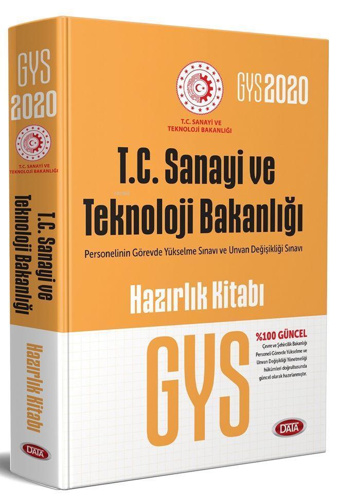 Data Yayınları 2020 GYS T.C. Sanayi ve Teknoloji Bakanlığı Hazırlık Kitabı