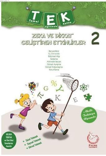 Palme Yayınları 2. Sınıf TEK Zeka ve Dikkat Geliştiren Etkinlikler Palme