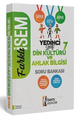 İsem Yayınları 7. Sınıf Din Kültürü ve Ahlak Bilgisi Soru Bankası İsem