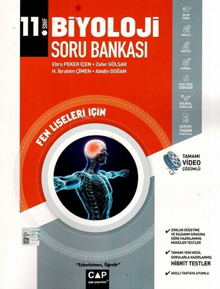 Çap Yayınları 11. Sınıf Fen Lisesi Biyoloji Soru Bankası Çap
