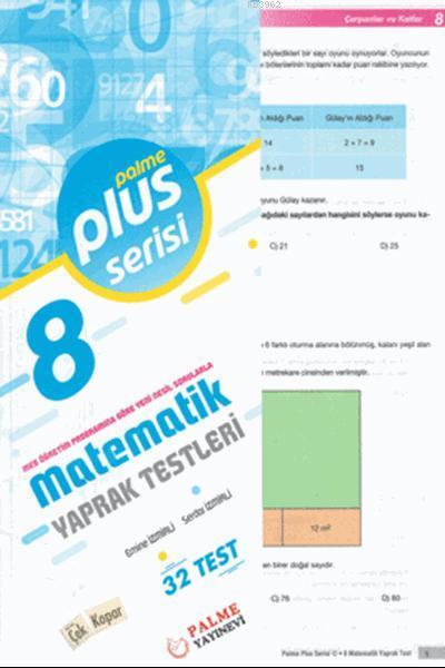 8. Sınıf Plus Serisi Matematik Yaprak Testleri