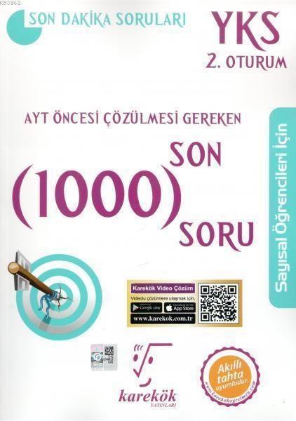 Karekök Yayınları AYT Sayısal Çözülmesi Gereken Son 1000 Soru