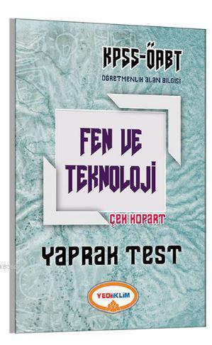 2017 ÖABT Fen ve Teknoloji Öğretmenliği Çek Kopart Yaprak Test