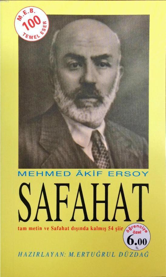 Safahat; tam metin ve Safahat dışında kalmış 54 şiir - öğrenciye özel baskı