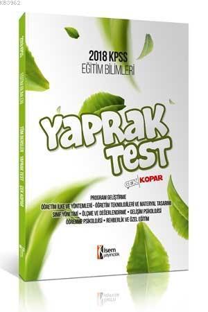 Eğitim Bilimleri Çek Kopar Yaprak Test 2018