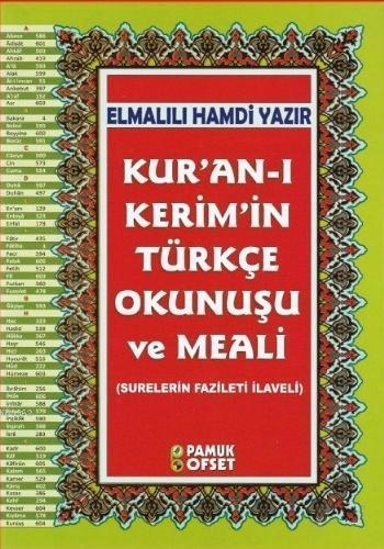 Kur'an-ı Kerim'in Türkçe Okunuşu ve Meali (Ciltli-Rahle Boy-Şamua-Kuran-203); Surelerin Fazileti İlaveli