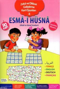 Esma-i Hüsna - Zeka ve Dikkat Geliştirme Kart Oyunları 4; Allah'ın Güzel İsimleri (5 Dilde)